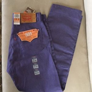 Levi's 501 Straight Leg Button Fly 33/32 Lavender